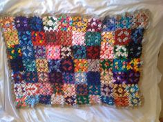 Reversible VIntage Style Granny Square Baby by TheCrochetNinja,Etsy