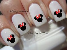 Browsing on Etsy designer ThirstyWillow has a ton of really cool looking Disney Nail Decals. I have no clue on pricing but most of her designs run $2.99 so I assume that is a value for Disney Nail Decals.