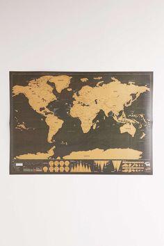 Deluxe World Scratch Map @seattlestravels