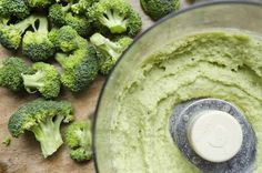 Broccoli Stem and Feta Hummus