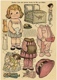 Las Recortables de Veva e Isabel: Dolly Dingles, Dockan Lisa Hennes docka ha fatt nya klader Cool Paper Crafts, Sunflower Wallpaper, Paper Dolls Printable, Dollhouse Kits, Bobe, Vintage Paper Dolls, Soft Dolls, Paper Toys, Drawing For Kids