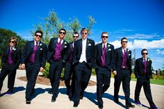 Navy Bule Groom Bestmen Suits Custome Homme Fashion Terno Wedding Suits For Men Blazer Men(Jacket+Pant+Vest+Tie+Handkerchiefs) White Tuxedo Wedding, Wedding Tux, Purple Wedding, Wedding Attire, Wedding Pictures, Wedding Colors, Our Wedding, Wedding Ideas, Wedding Outfits