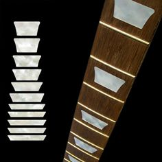Amazon.com: Fretboard Markers Inlay Sticker Decals for Guitar & Bass - Dish Trapezoid Les Paul - WP: Musical Instruments