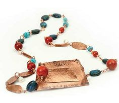 Copper beaded necklace
