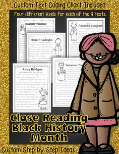 Black History Month lesson plan ideas, worksheets, and so much more. Aligns to Common Core! Textual evidence questions/activities posters. Informational Text Passages Differentiated to FOUR LEVELS for each. Social Studies concepts civil rights, freedoms, and segregation for Black History Month Close Reading and Writing.