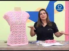Blusa Margarida em croche com Cisne Hobby por Cristina Amaduro - YouTube