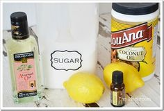 Brown Sugar Lemony Body Scrub  lemon, which works as a natural disinfectant. It will open up and cleanse clogged pores.  1 cup brown sugar 1/2 cup sea salt 2 tbsp coconut oil or olive oil 1 tbsp of honey 2 tbsp of freshly squeezed lemon juice 1 tbsp of your favorite essential oil  Mix all the ingredients in a bowl until it turns into a paste. Apply in circular motion using your fingertips Rinse off with warm water. Apply moisturizer. Results: smooth, soft glowing skin…