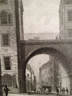 Edinburgh South Bridge was built in 1785. This was a hidden bridge with buildings built on either side of it.