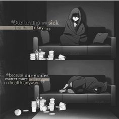 Anytime I get sick some people don't believe me. And then in like 2 days the school starts calling. So I'm like I gotta go to school even if I do feel like crap Sad Anime Quotes, Manga Quotes, Dog Died, School Starts, Dark Quotes, Depression Quotes, Education System, Depressing, Amazing Quotes