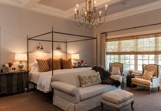 Gray Master Bedroom Paint Color. Gray Master Bedroom Ideas. Gray Master Bedroom Decor. #GrayMasterBedroom #GrayMasterBedroomPaintColor #GrayMasterBedroomIdeas--articulating lights over bed as well as table lamps