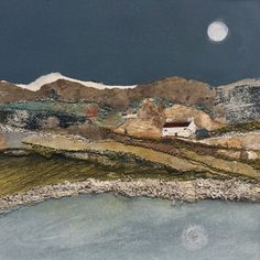 """Mixed Media Art By Louise O'Hara - """"Reflections from a Croft"""" Journal D'art, Textiles, Landscape Art Quilts, Snow Art, Collage Art Mixed Media, Assemblage Art, Detail Art, Textile Artists, Embroidery Art"""