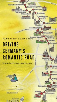 Driving the Romantic Road in Germany-- Formerly a trade route during the Middle . - Driving the Romantic Road in Germany– Formerly a trade route during the Middle Ages, Germany's - Places To Travel, Travel Destinations, Places To Visit, Travel Deals, Rick Steves Travel, Romantic Road, Beautiful Roads, Ville France, Reisen In Europa