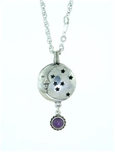 Perfume Diffuser, Washer Necklace, Pendant Necklace, Diffuser Necklace, Amethyst Crystal, Stars And Moon, Pewter, Belly Button Rings, Crystals
