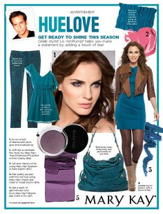 Get ready to shine this season! Celeb stylist Lo VonRumpf helps you make a statement by adding a touch of teal. Get 10% off your next purchase when you LIKE my FB page: www.facebook.com/thinkpink08