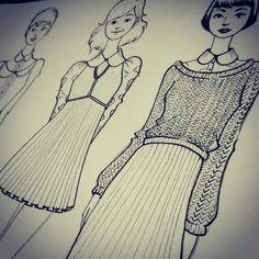 """Dormir pra quê?  #fashiondesign #sketches #croqui #tcc #modaehfoda #drawing #illustration #nanquin #draw #artwork"""