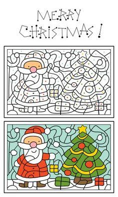 Printable Santa Claus Coloring Activity