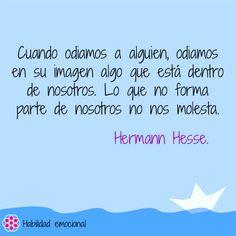 Lo que no forma parte de nosotr@s no nos molesta :)   Hermann Hesse  Ideas Desarrollo Personal para www.masymejor.com