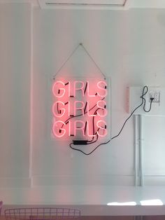 Custom neon sign from Los Angeles Neon. I would love to do one of these!!