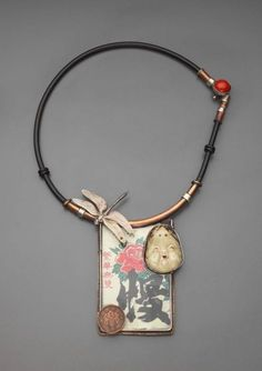 "Wearable art jewelry by Ramona Solberg ""Sake-Sake"" 2002 Spotted on http://blukatdesign.hubpages.com/hub/wearable-art-jewelry"