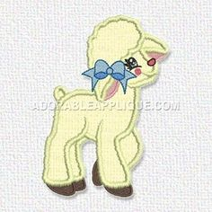 This free embroidery design from Adorable Applique is a sheep.