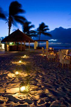 The on-beach restaurant at Marlin Lodge, Benguerra Island, Bazaruto Archipelago, in #Mozambique.