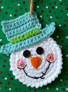 Crochet accessories and household items by CrochetByChickiedees Crochet Snowman, Crochet Ornaments, Crochet Snowflakes, Crochet Christmas Decorations, Christmas Crafts, Christmas Tree, Motifs D'appliques, Holiday Crochet Patterns, Granny Square Crochet Pattern