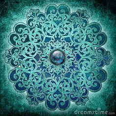 Mandala 7 Chakras: Zen Music for Chakra Balancing & Relaxation, Buddhist Meditation Music & Peace of Mind by Meditation Relax Club Mandala Art, Mandala Drawing, Mandala Design, Mandala Indiana, Tattoos Mandalas, Shades Of Turquoise, Stock Foto, Hippie Art, Fractal Art