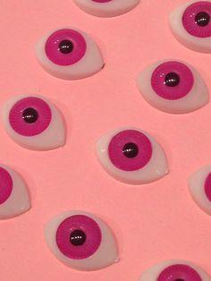 Ojos rosa 11x16 mm #chip 9 mm accesorios muñecos doll por #YBatchi