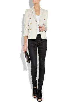 work outfit | skinny jeans + blazer