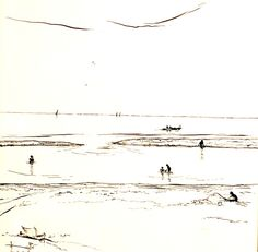 Tekening Zandvoort van Kees Pé