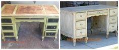 before and after dumpster desk redouxinteriors
