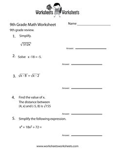 math worksheet : grade 5 multiplication  division of fractions worksheets  free  : 9th Grade Math Worksheets Printable