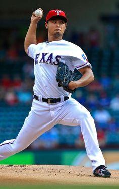 Texas Rangers starting pitcher Yu Darvish