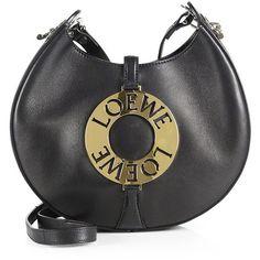 LOEWE Small Joyce Leather Shoulder Bag (1,099,495 KRW) ❤ liked on Polyvore featuring bags, handbags, shoulder bags, round purse, leather shoulder bag, genuine leather handbags, man leather shoulder bag and leather man bags