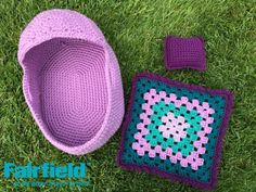 Crochet a basket style bed to go along with your crocheted baby doll, and make a little blanket and pillow to match. This little bed set along with the baby doll would be the perfect Christmas gift for a little girl who loves baby dolls, or a fun gift for a soon-to-be big brother or sister. The basket is made holding two strands of yarn together to make it more sturdy and has Stiffen heavyweight interfacing in the base to keep it flat. The little blanket is a simple granny square and it can…
