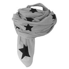shawl with hand made stars