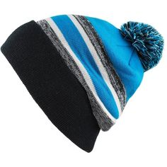 THE HAT DEPOT Winter Soft Unisex Pom Pom Stripe Knit Beanie Skull... (575 RUB) ❤ liked on Polyvore featuring accessories, hats, knit slouchy beanie, pom pom beanie hat, skull cap beanie, slouchy knit hat and slouchy beanie hat