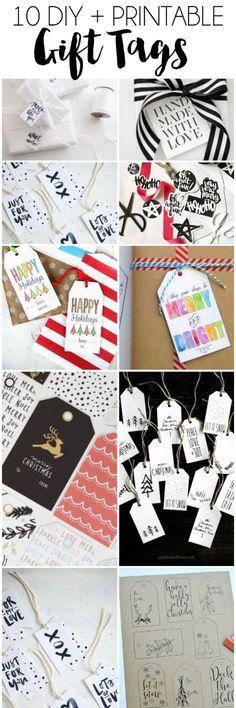 10 DIY + Printable Gift Tags | dawnnicoledesigns.com