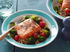 Quinoa, Salmon and Broccoli Bowl from CookingChannelTV.com