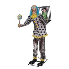 Voguish MR. HAPPY ANIMATED PROP. A grand collection of Cartoon & Animated Animated Props for Halloween at CostumePub. Animated Halloween Props, Halloween Masks, Halloween Decorations, Scary Decorations, Scary Halloween, Happy Halloween, Christmas Decorations, Black And White Clown, Black White