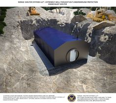 Shelters are purchased, transported and installed with secrecy. Both Modified Military (Civilian) and Military bomb shelters include intruder defense features. Ask a NORAD sales engineer for details. Off Grid Survival, Survival Shelter, Wilderness Survival, Emergency Shelters, Underground Shelter, Underground Homes, Bunker Home, Doomsday Bunker, Panic Rooms