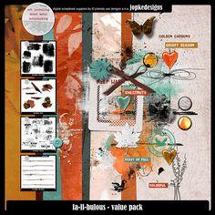 Oscraps :: Shop by Category :: Digital Scrapbook Kits :: FA-LL-BULOUS - VALUE PACK