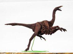 Dinosaur Paper Sculpture by Adam Tran