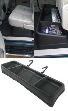 Large-capacity cargo box compatible with the GMC Sierra and fits perfectly beneath the rear seats of the truck. Minimizes cargo shifting - store tools, hunting gear and the like.
