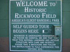 RICKWOOD FIELD ~ Americas Oldest Ballpark and the Original Home of the Birmingham Barons, Birmingham, Alabama. Click on photo to read the history of Rickwood Field.