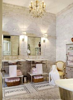 Everything Fabulous: Decor Inspiration: A Guest bathroom with Parisian Flair