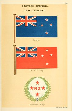 Drawings of the flags in use at the present tim...