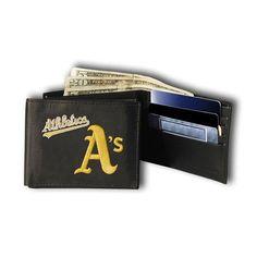 Oakland Athletics MLB Embroidered Billfold Wallet