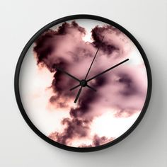Buy Smoke chemical by VanessaGF as a high quality Wall Clock. Worldwide shipping available at Society6.com. Just one of millions of products available.  #smoke #photography #magical #air #colour  #waves #chemistry #chemical #purple #clock #wallclock