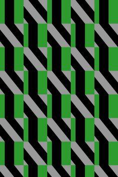 Kapitza - Geomteric Pattern of the Day green grey